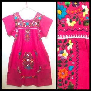 Traditional Mexican embroidered dress